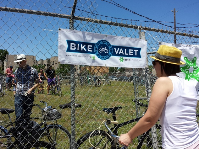 Bike Valet at Sunday Streets on Westheimer May 2014