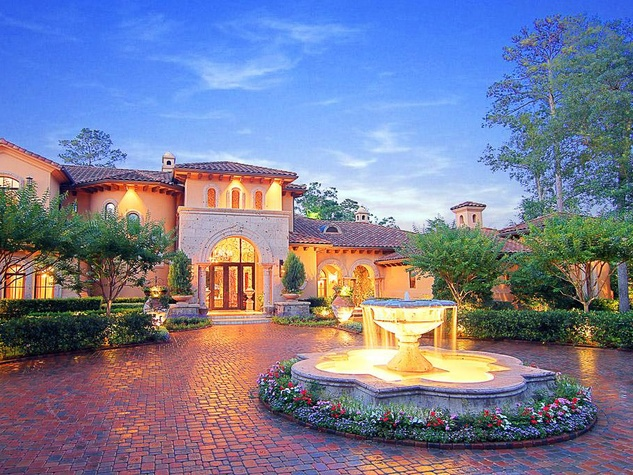 Avery Johnson mansion for sale The Woodlands Spring June 2013 front exterior night