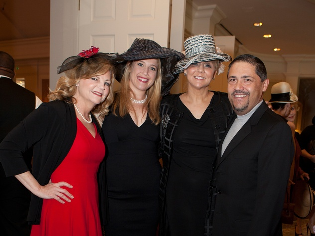 Kim Padgett, from left, Hershey Grace, Blake Barner and Bruce Padilla at Hats Off to Mothers March 2014