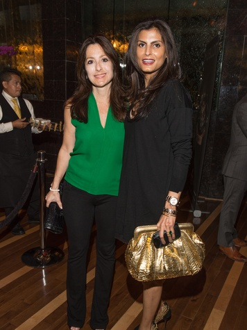 17 Laura Mudd, left, and Sabiha at the Hublot dinner party at Tony's October 2013