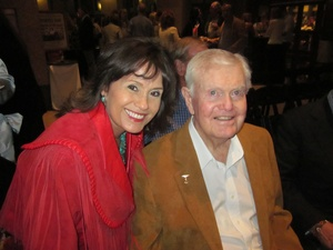Austin Photo: News_Jon_Texas Heritage Songwriters_hall of fame_march 2012_Darrell Royal and Olga Campos