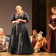 Houston Grand Opera Cosi fan tutte October 2014 Norman Reinhardt as Ferrando, from left, Rachel Willis-Sorensen as Fiordiligi, Jacques Imbrailo as Guglielmo and Melody Moore as Dorabella