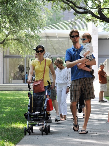 Family at Nasher Sculpture Center