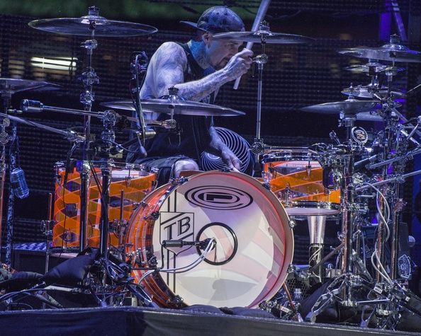 Blink 182 drummer Travis Barker at RodeoHouston