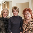 Mary Ann McKeithan, from left, Jane Pauley and Maryann Hoffer at the Huffington Center on Aging luncheon October 2014