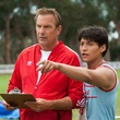 Kevin Costner and Carlos Pratts in McFarland, USA