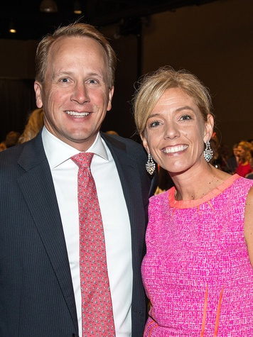 Keith and Megan Alexander at the In the Pink luncheon in The Woodlands October 2013