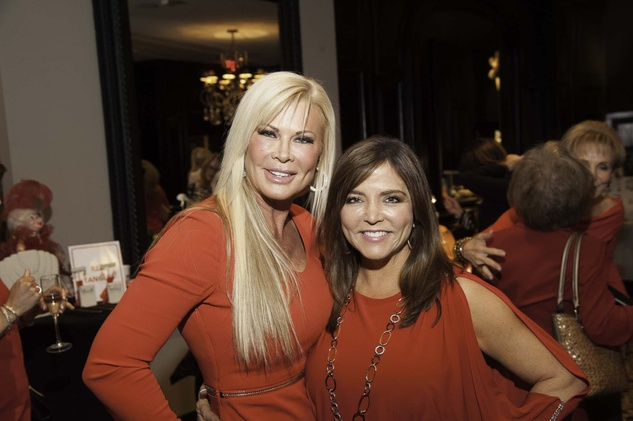 Theresa Roemer, left, and Beth Cassidy-Garcia at the Go Red For Women luncheon May 2014