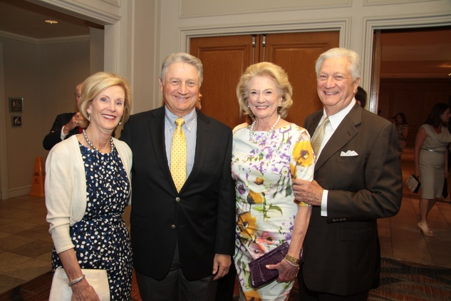 Janet and Michael Fourticq, from left, and Patsy and Greg Fourticq at the Houston Living Legend fundraiser dinner May 2014