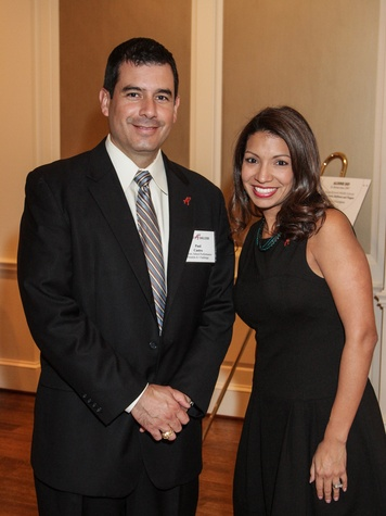 1 8006 Paul Castro and Dana Vontoure at the Houston A+ Challenge dinner December 2013