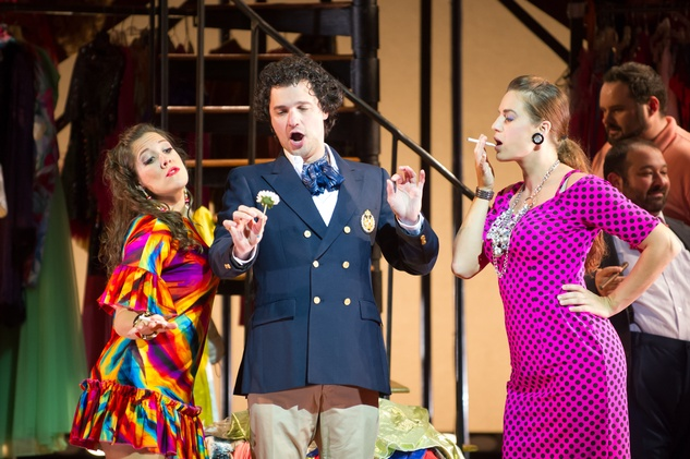 Cesar Galindo Cinderella in Milwaukee September 2014 Prince Charming and ugly step sisters Dimitrie Lazich (Dandini), Erin Sura (Clorinda), Kristen DiNinno (Tisbe)