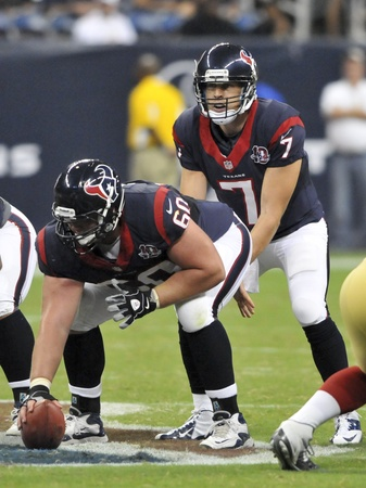 Case Keenum huddle Texans
