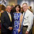 9758 Ned Torian, from left, Shelley Barineau and Dr. Will Parsons at the Lester and Sue Smith Clinic dedication at Texas Children's Hospital May 2014