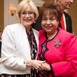 Madelyn Farris, left, and Trini Mendenhall at the Christus Health luncheon March 2014