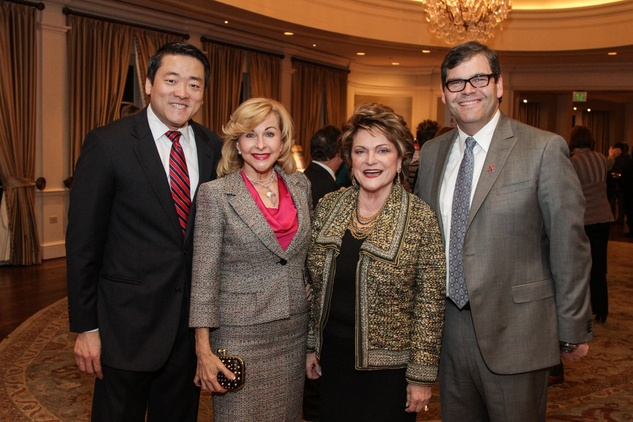 2 8083 Gene Wu, from left, Dana Kervin and Beth and Ed Wolff at the Houston A+ Challenge dinner December 2013