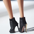 8 Hervé Léger by Max Azria Barbie September 2013 black outfit booties