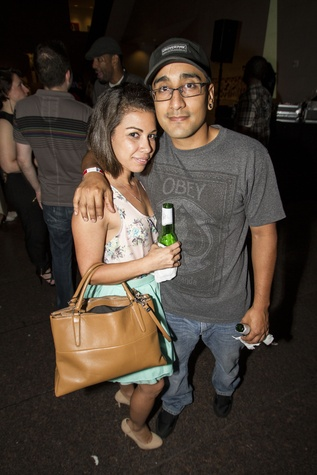Victoria Medrano and Jacob Dillvall at the MFAH Mixed Media Party June 2014