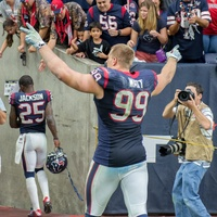 J.J. Watt fan arms Texans Bills