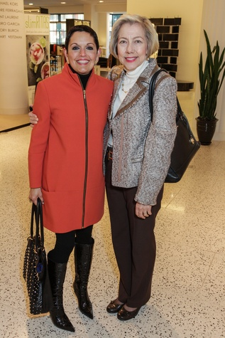 News, Shelby, Latin American Women's Initiative Kick-off, February 2015,Rosanna Moreno and Elva Flores