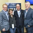 Jay Hamby, Cynthia Moore, Doug Kindy, Mike Lawlor at Lucchese party at Houston rodeo March 2014
