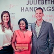Beth Purpich, Sharron Melton, and Phil Purpich at JulieBeth handbag trunk show