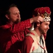Mac Blake crowns Cody Hustak as the 2014 Funniest Person in Austin FPIA at Cap City