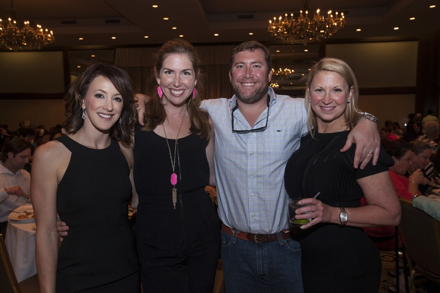 Kim Syma, from left, Mary Kathryn Aston, Brian Aston and Julie Douglas at the Eye Care for Kids benefit May 2014