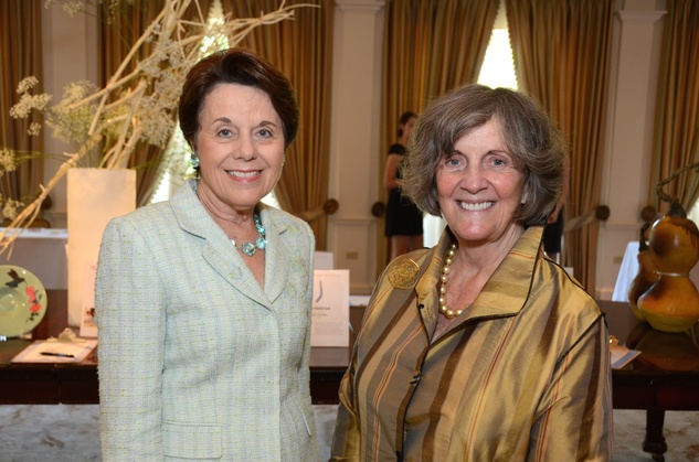 55 Ginni Mithoff, left and Sara Morgan at the Houston Center for Contemporary Craft spring luncheon May 2014
