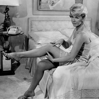 Doris Day, Pillow Talk, stocking scene