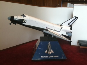 News_Houston Symphony_Orbit_lobby exhibits_Discovery Space Shuttle