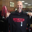 Jane Howze Homecoming October 2013 Clifford Pugh holding Southwestern at Memphis T-shirt