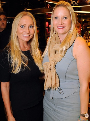 Lori Lemon-Geshay, left, and Nicole Brende at the Gucci Alley Theatre cocktail party October 2013