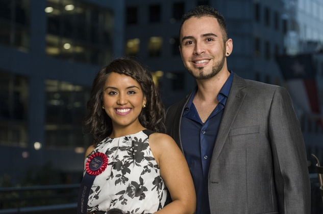 189 Karen Canales and Raul Martinez at the HAA inaugural 40 under 40 party September 2014