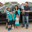 Gracepoint Homes and Keller Williams home renovation surprise May 2014 Limo arrival