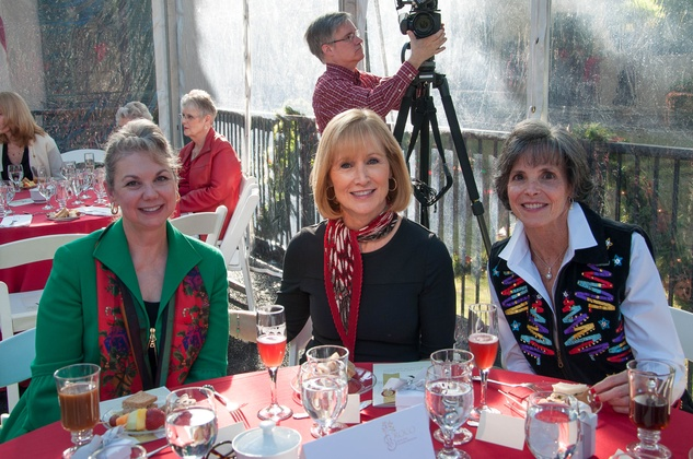 13 Catherine Gassman, from left, Janet Burkard and Claire Martin at the ROCO Yuletide Concert at Bayou Bend December 2014