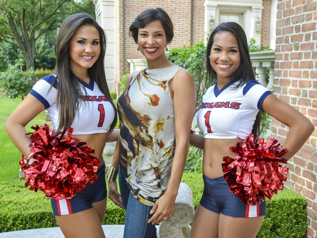 14 DePelchin Children's Center Gala kickoff Jamil Higley, Texans Cheerleaders