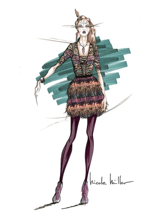 Designers' sketches fall 2014 collection Nicole Miller