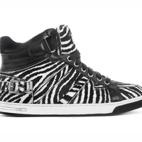 Michael Kors, special edition Fulton High-Top, sneaker, zebra print, April 2013