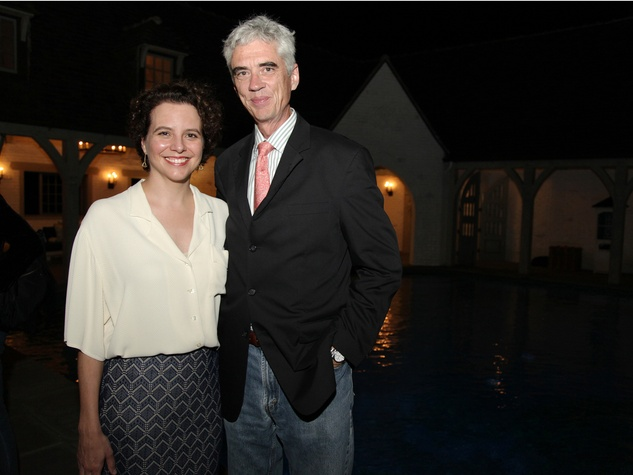17 Rainey Knudson and Michael Galbreth at the Laurie Anderson Dinner + Mitchell Artist Lecture September 2014