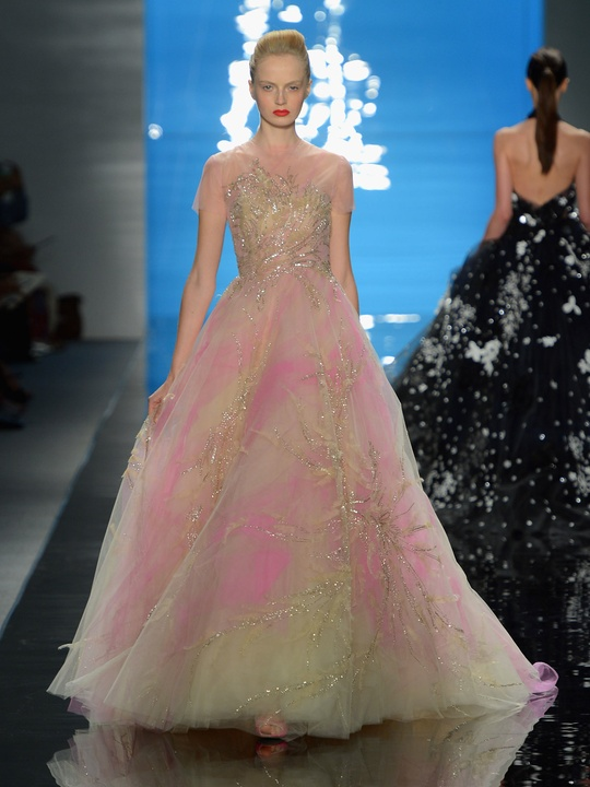 Clifford, Fashion Week spring 2013, Monday, Sept. 10, 2012, Reem Acra, iridescent gown