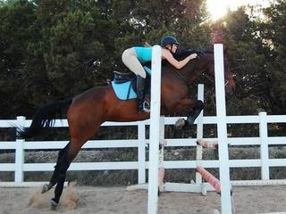Eliana Gill on a horse