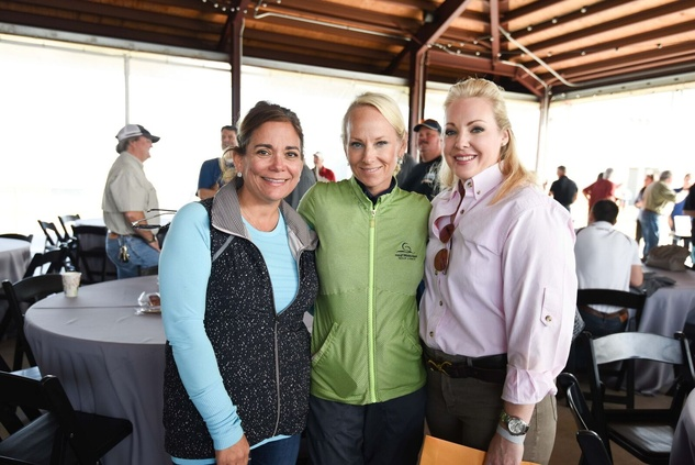 Carmen Mach, Melanie Rothwell, Katherine Stacy at Memorial Hermann Clay Shoot