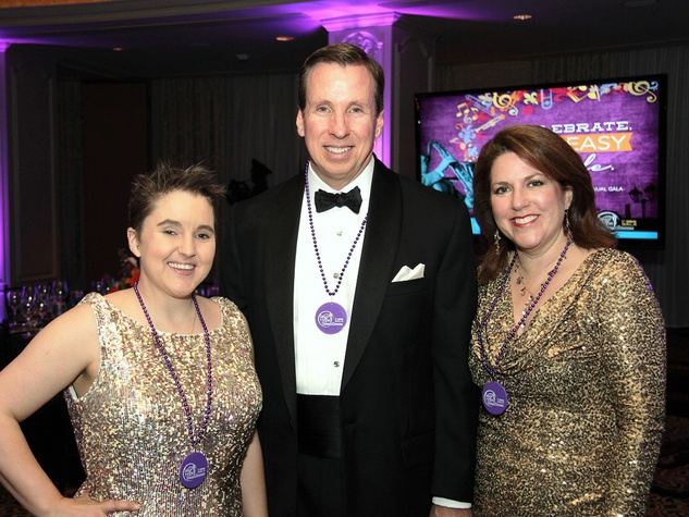 Sarah Pepper, from left, with Trey and Stacey Wood at the Devereux Gala February 2014