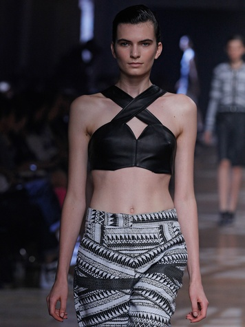 Yigal Azrouël Spring 2014 Runway Collection September 2013 Look 15 detail