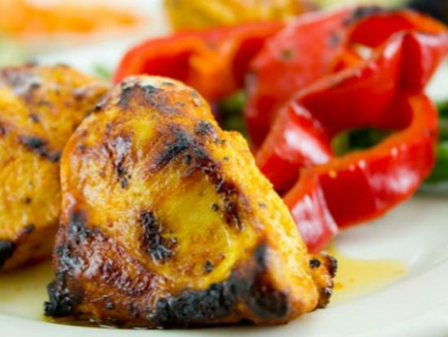 Grilled chicken tapas at Cafe Izmir in Dallas