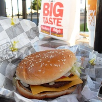 Checkers and Rally's Big Buford hamburger
