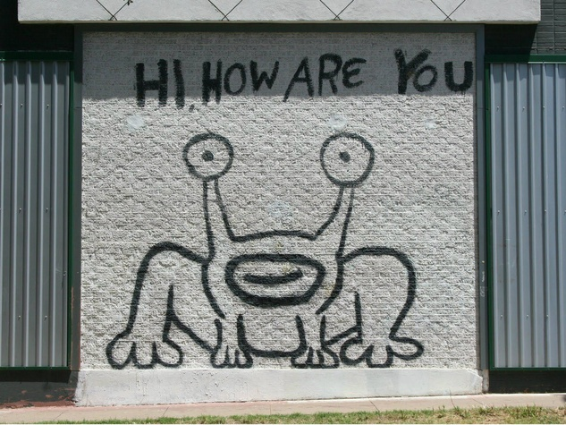 Hi How Are You Austin mural