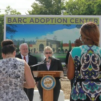 Mayor Parker joined BARC Animal Shelter and Adoptions