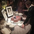 Daniel Zilkha and Texas-shaped cake at wedding