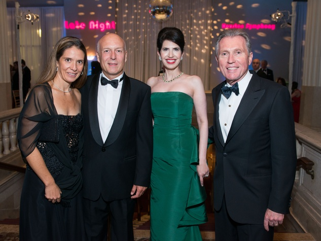 38 Daniella and Manolo Sanchez, from left, and Dr. Kelli Cohen-Fein and Martin Fein at Houston Symphony Opening Night Gala September 2014